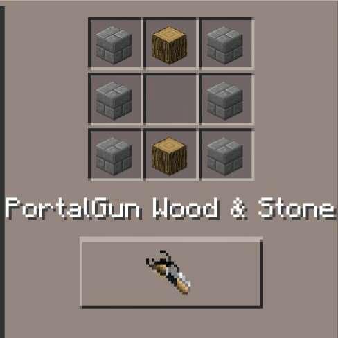 PortalGun Wood & Stone (id - 3655)