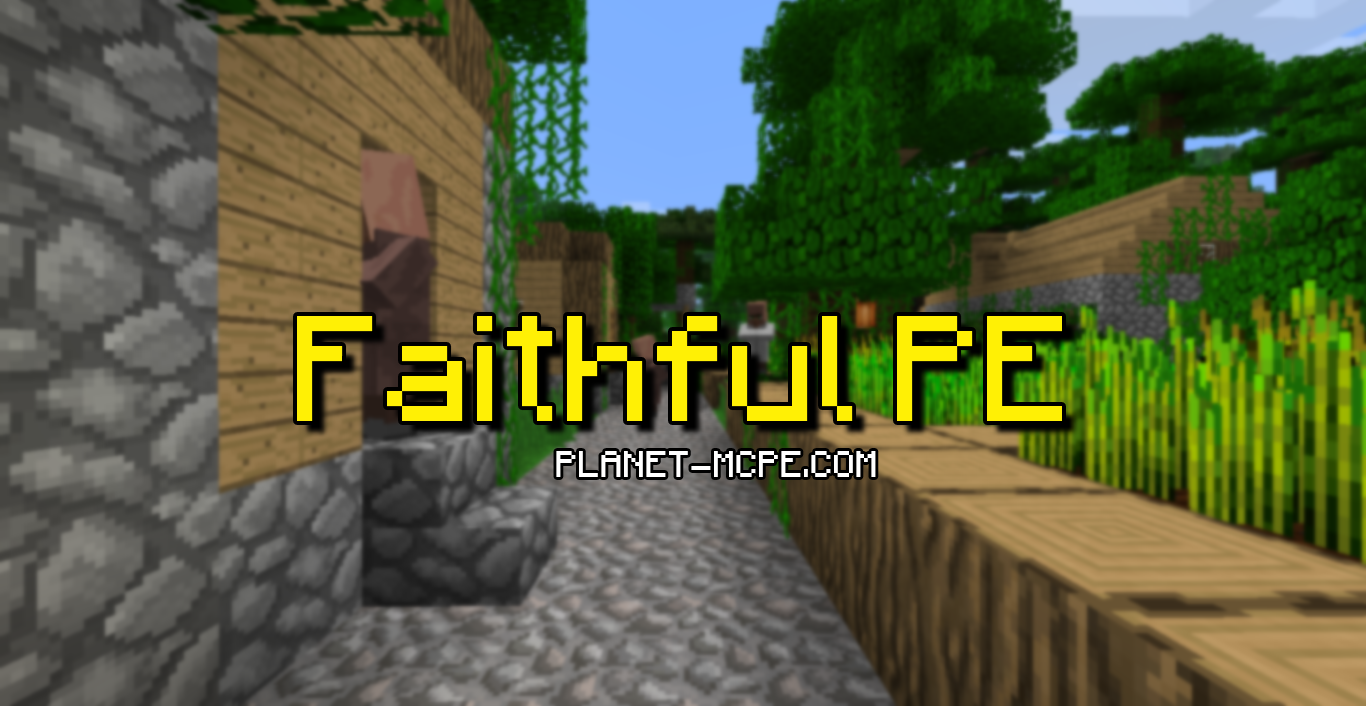 mcpe texture Faithful logo