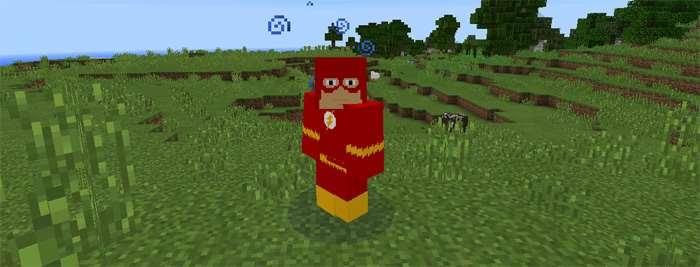 Флэш из мода на Супергероев в Майнкрафт на Андроид