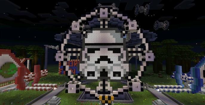 Парк звездных войн в Майнкрафт ПЕ