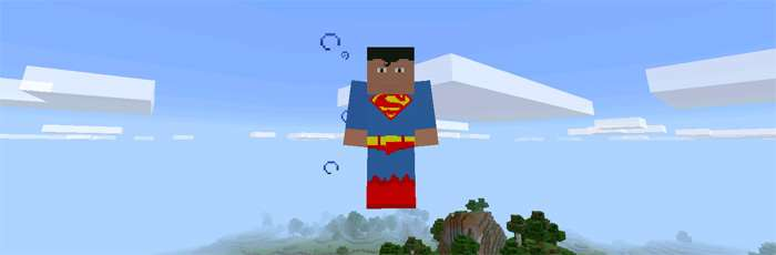 Супермен из мода на Супергероев в Майнкрафт на Андроид