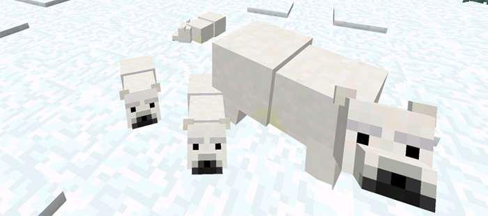 Белые медведи в майнкрафт пе