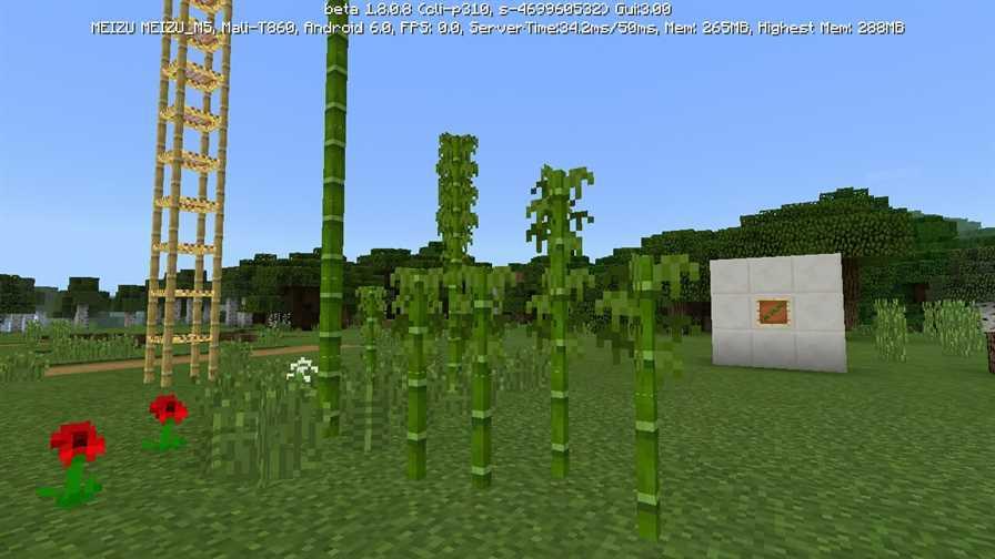 Бамбук в Майнкрафт 1.8.1