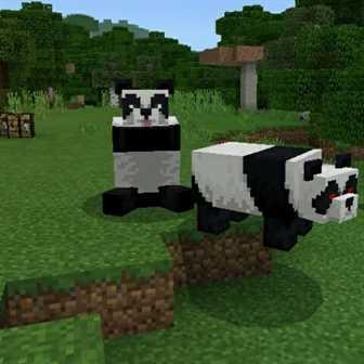 Панда в Майнкрафт 1.8.1