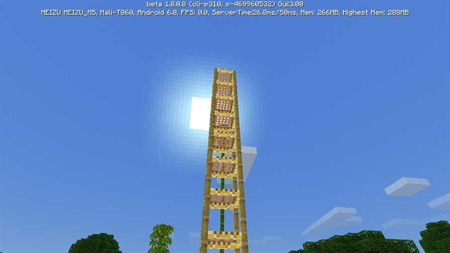 строительные леса в minecraft 1.8.1