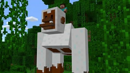 Гигантская Снежная горилла для MCPE