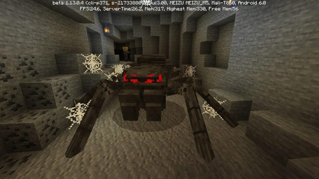 Босс мать пауков в Майнкрафт ПЕ 1.13.0