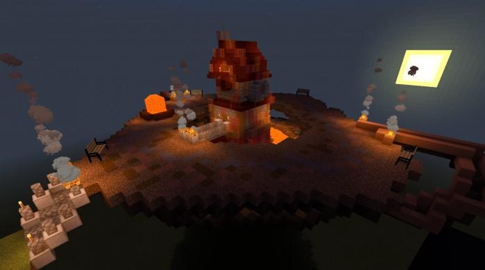 Карта для Майнкрафт 1.13.0 Пожарная башня