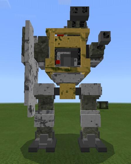 Мод на боевого робота для Майнкрафт ПЕ 1.13.0