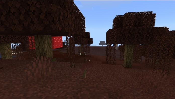 Огненное болото в Майнкрафт ПЕ