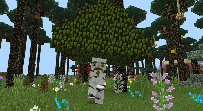 Аддон с картой сумеречный лес в Майнкрафт ПЕ