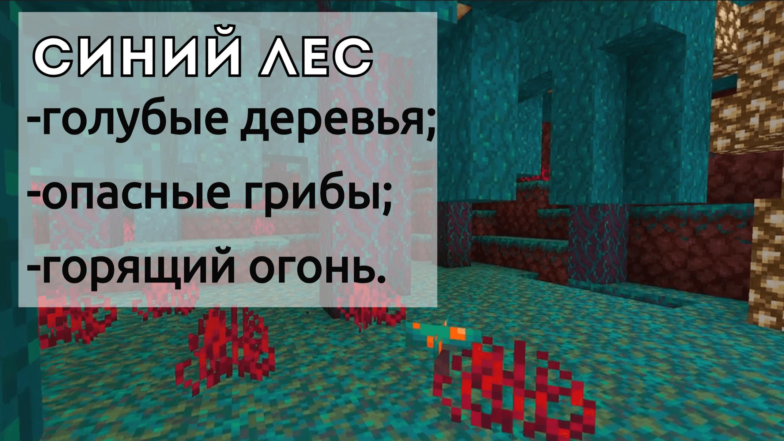 Синий лес адского нароста в Minecraft Bedrock 1.15.0