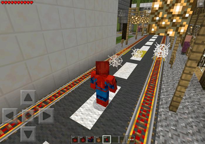 Мод на человека паука для Майнкрафт ПЕ