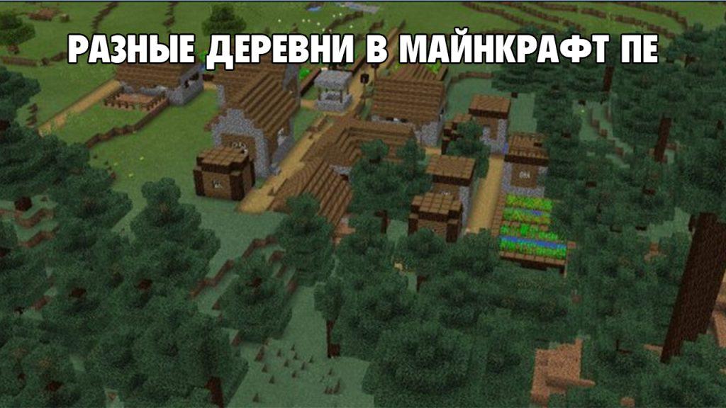 Разные виды деревень в Майнкрафт ПЕ