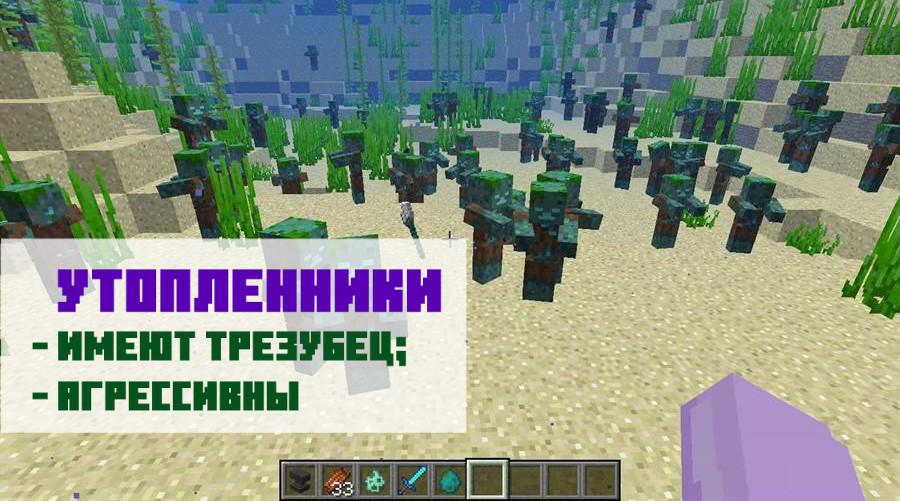 Утопленники Майнкрафт ПЕ 1.2.13.5