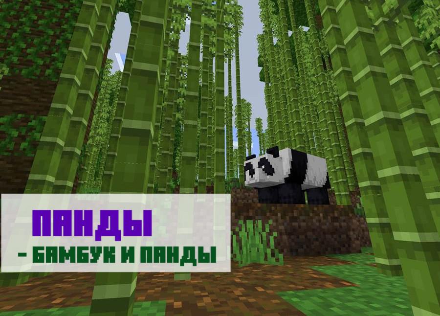 Сид на панд и бамбуковый лес для Майнкрафт ПЕ