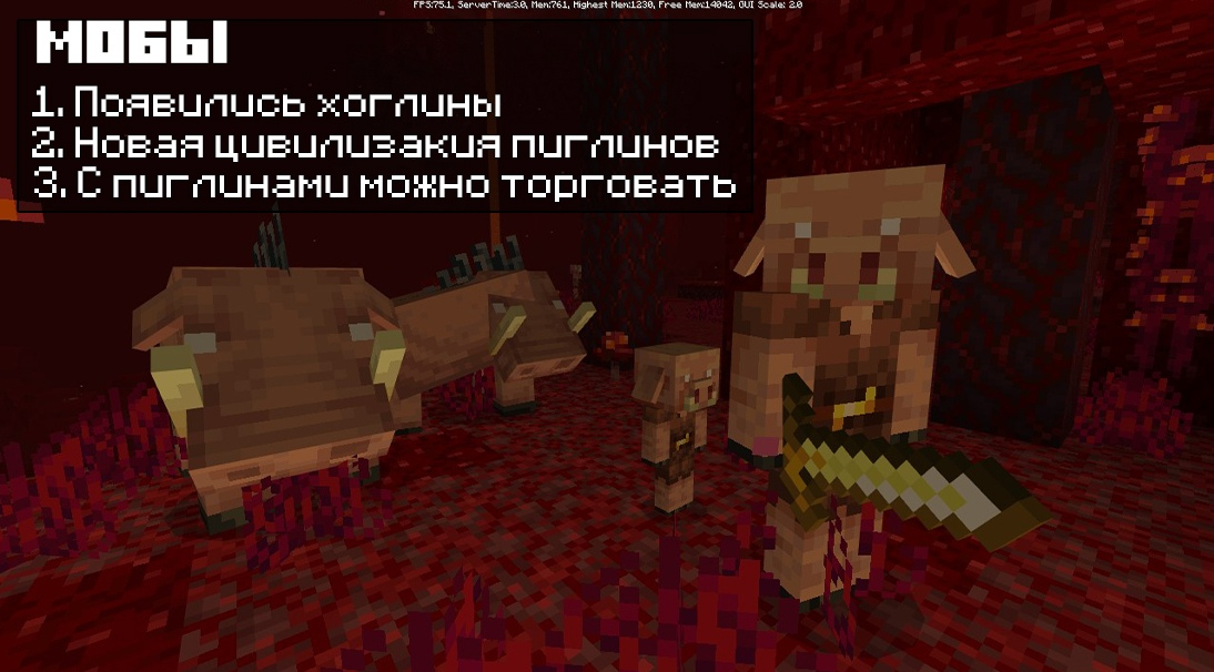 Мобы в Майнкрафт 1.16