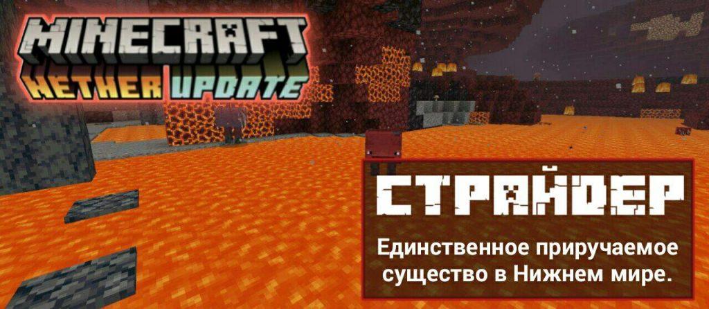 Страйдер в Minecraft PE 1.16.100.51