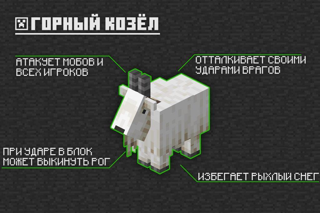Горный козёл в Minecraft PE 1.16.210.56