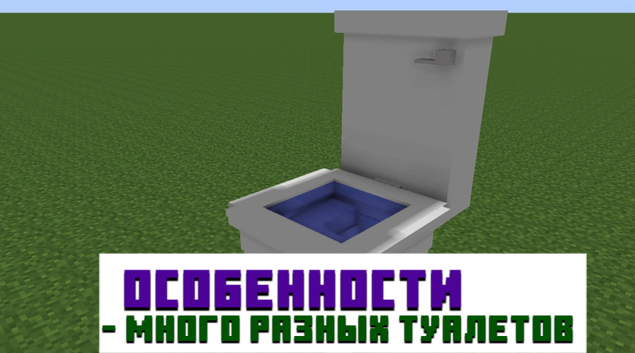 Особенности мода на туалет для Minecraft PE
