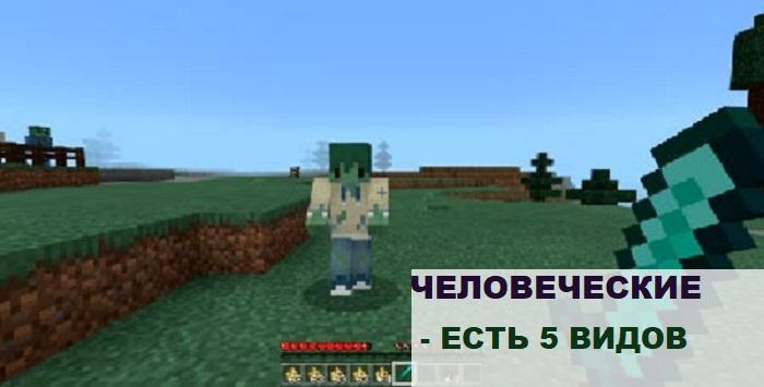 Человеческие зомби в Майнкрафт ПЕ