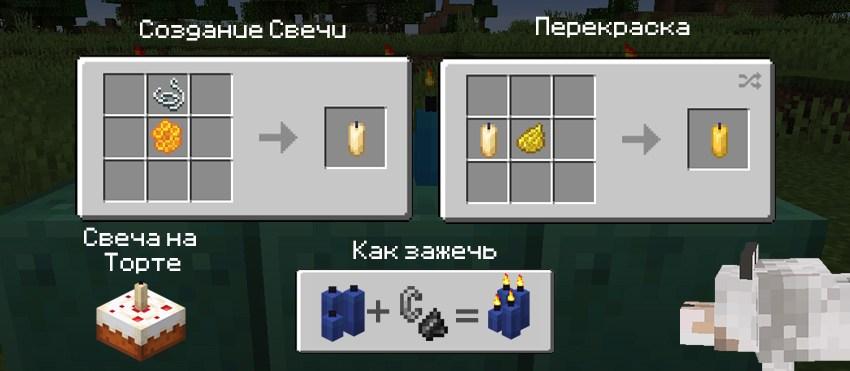 Как создаются свечи в Майнкрафт