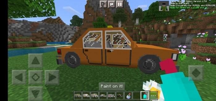 Игрок перекрасил машину