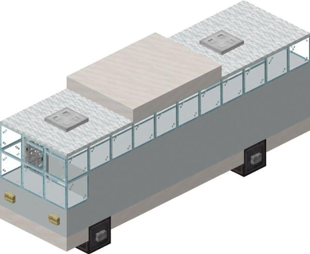 Внешний вид автобуса в Майнкрафт