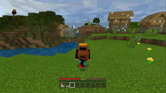 Игрок бежит с рюкзаком