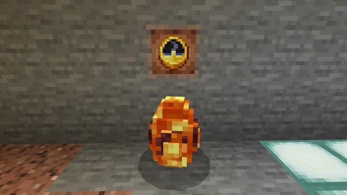 Яйцо стоит посреди пещеры