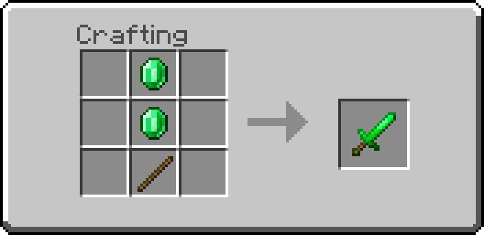 Как сделать изумрудный меч