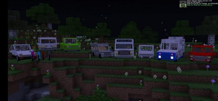 машины стоят посреди поля ночью