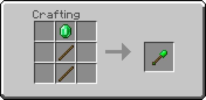 Как сделать изумрудную лопату