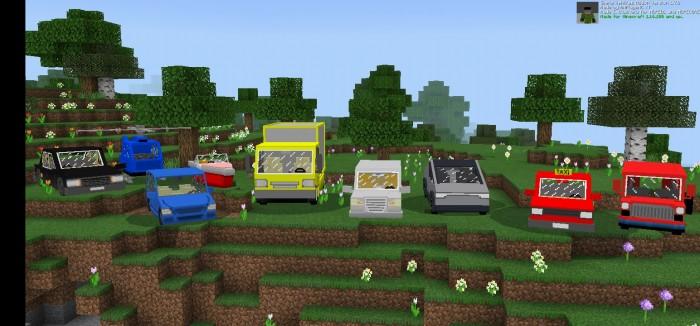Выставка машин в Майнкрафт