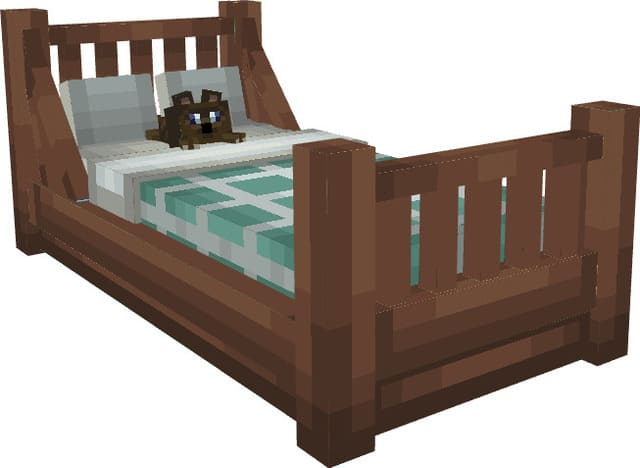 Новая кроватка на белом фоне