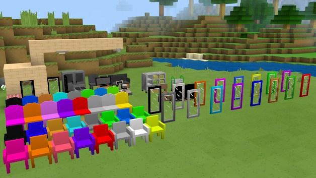 Новая мебель расставлена в игровом мире 3