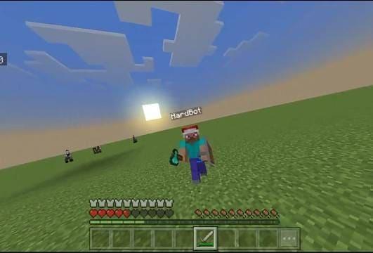 Бот атакует игрока в игре