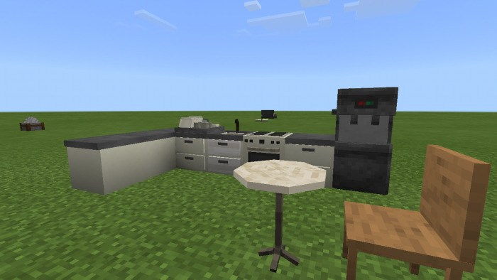 Пример украшения кухни в игре