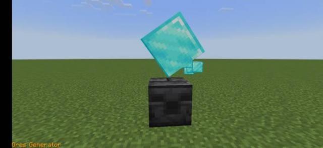 Генератор алмаза перед игроком