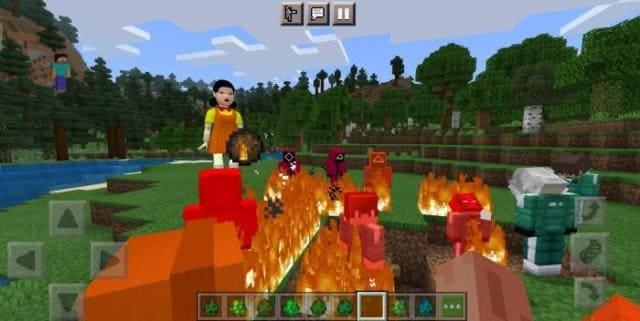 Кукла-робот и надзиратели сражаются с игроком