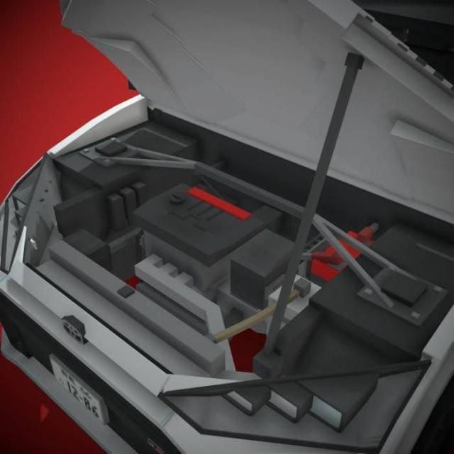 Открытый капот машины
