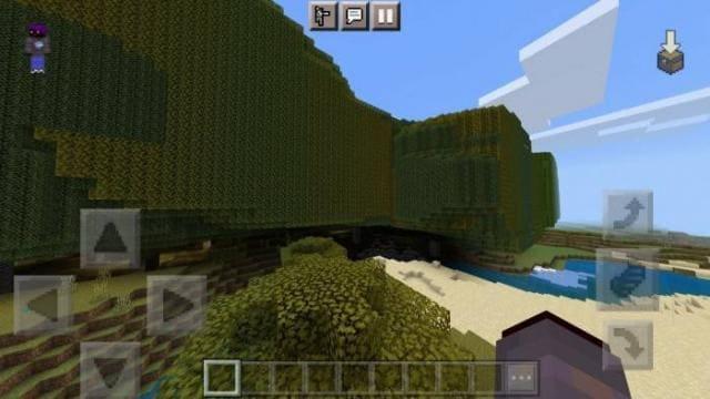 Игрок путешествует по новым биомам 3